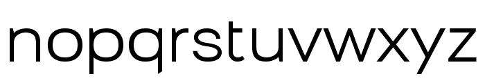 Bronova Regular Font LOWERCASE