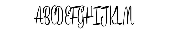 Bronze Script Personal Use Font UPPERCASE