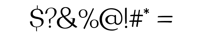 Brook Flair Regular Font OTHER CHARS