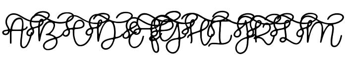 Brooklyn Script Font UPPERCASE
