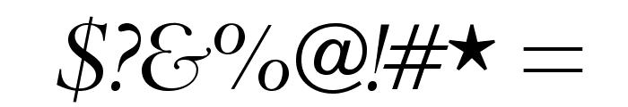 BrophyOpti-Italic Font OTHER CHARS