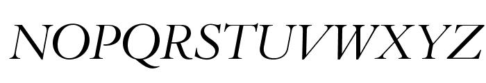 BrophyOpti-Italic Font UPPERCASE