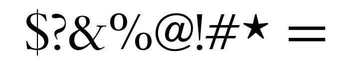 BrophyOpti Font OTHER CHARS