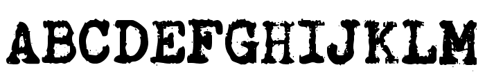 Brother Deluxe 1350 Font Font UPPERCASE