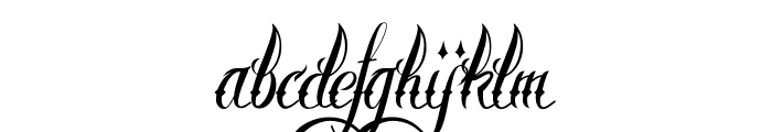 Brother Tattoo Font LOWERCASE