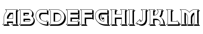 Brownwood Shadow NF Font LOWERCASE