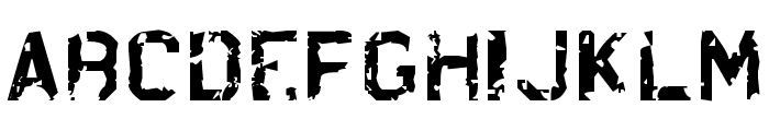 Brrb Rloadt. Font LOWERCASE