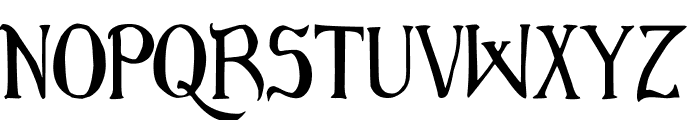 Bruce Scaled Font UPPERCASE