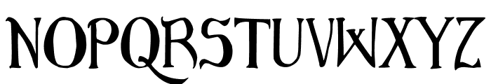 Bruce Scaled Font LOWERCASE