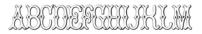 BruceDoublePica Beveled Font UPPERCASE