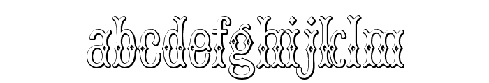 BruceDoublePica Beveled Font LOWERCASE