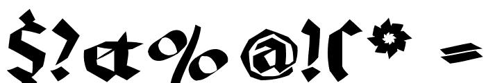 BruchRund Font OTHER CHARS