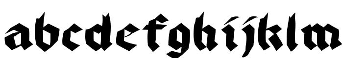 BruchRund Font LOWERCASE