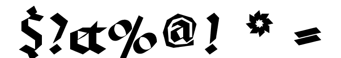BruchschriftMK Font OTHER CHARS