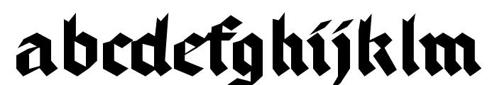 BruchschriftMK Font LOWERCASE