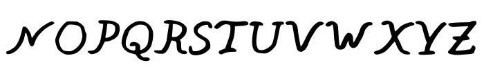 BrunoThg Font UPPERCASE