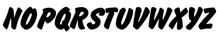 Brush Hand New Font UPPERCASE
