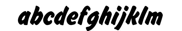 Brush Hand New Font LOWERCASE