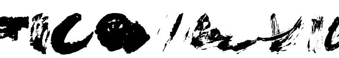 Brush Stroke Of Genius Font UPPERCASE