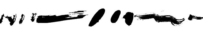Brush Stroke Of Genius Font LOWERCASE