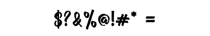 Brush Stroke Font OTHER CHARS