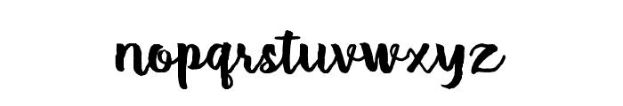 Brush Stroke Font LOWERCASE