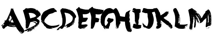 Brush Strokes Font UPPERCASE