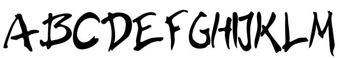 BrushHour-Regular Font UPPERCASE