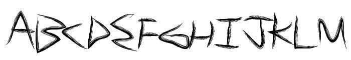 BrushSand Font UPPERCASE
