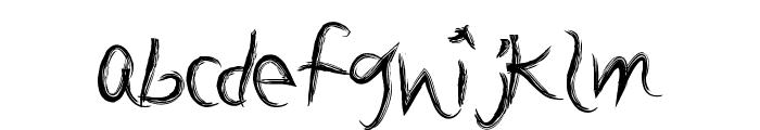 BrushSand Font LOWERCASE
