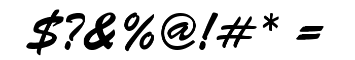 BrushScript-Normal-Italic Font OTHER CHARS