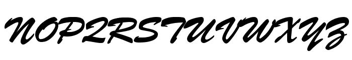 BrushScript-Normal-Italic Font UPPERCASE