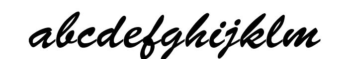 BrushScript-Normal-Italic Font LOWERCASE
