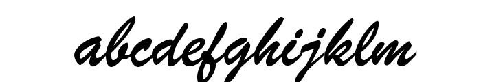 BrushScriptOpti-Regular Font LOWERCASE