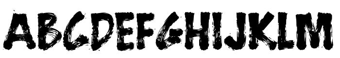 BrushStrokeFast Font UPPERCASE
