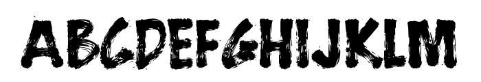 BrushStrokeFast Font LOWERCASE