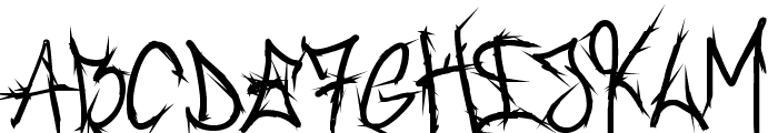 Brush_Of_Anarchy Bold Font LOWERCASE