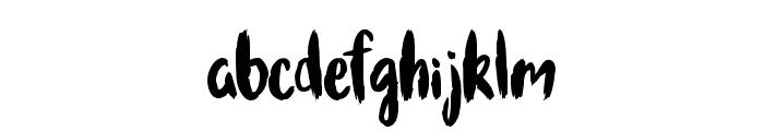 Brushcheetah Regular Font LOWERCASE