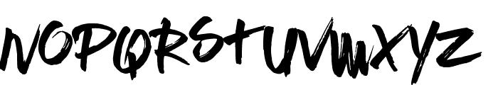 Brushed Traveler Font UPPERCASE