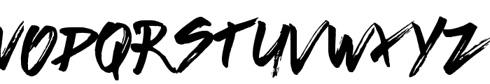 Brushed Traveler Font LOWERCASE