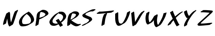 Brushmark. Font LOWERCASE