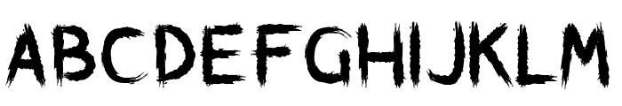 Brushstroke Horror Font UPPERCASE