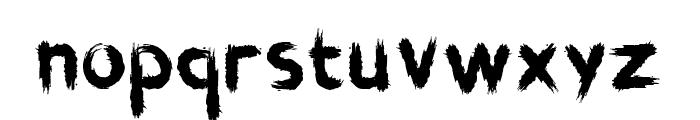 Brushstroke Horror Font LOWERCASE