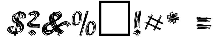 Brushstroke Plain Font OTHER CHARS