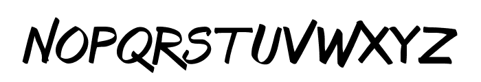 Bruss Font LOWERCASE