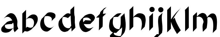 brush Font LOWERCASE