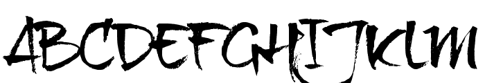 brushtipTexe TRIAL Font UPPERCASE