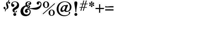 Bradley Wayside Font OTHER CHARS