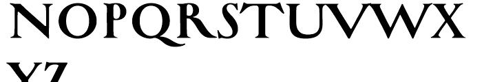 Bradley Wayside Font UPPERCASE