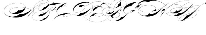 Bradstone Parker Script Font UPPERCASE